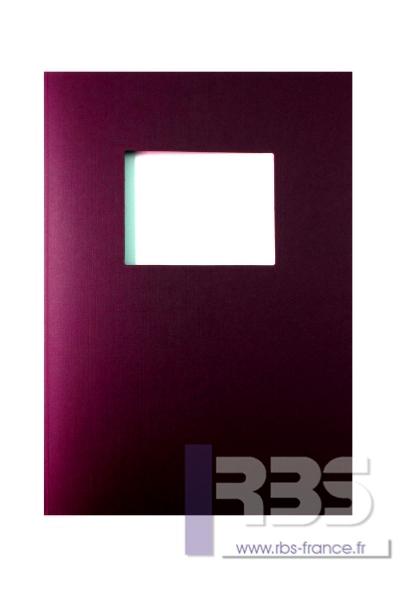 Couvertures Advocate avec fenêtre - Coloris : Bordeaux