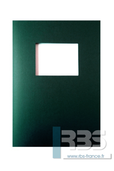 Couvertures Advocate avec fenêtre - Coloris : Vert Foncé