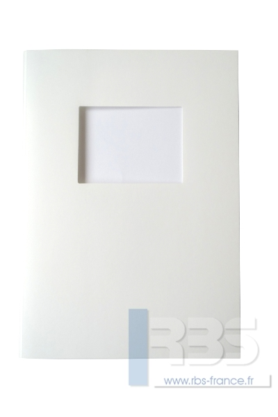 Couvertures Advocate avec fenêtre - Coloris : Blanc Texturé
