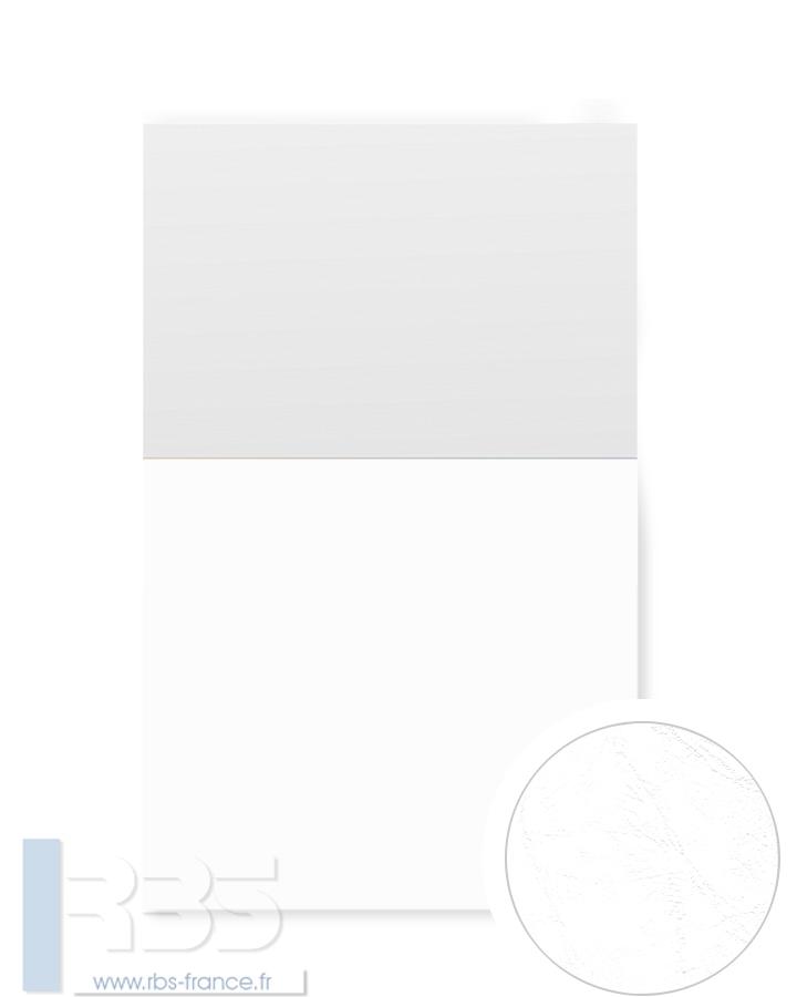 Couverture d'emboîtage Grain cuir 260g - Coloris : Blanc