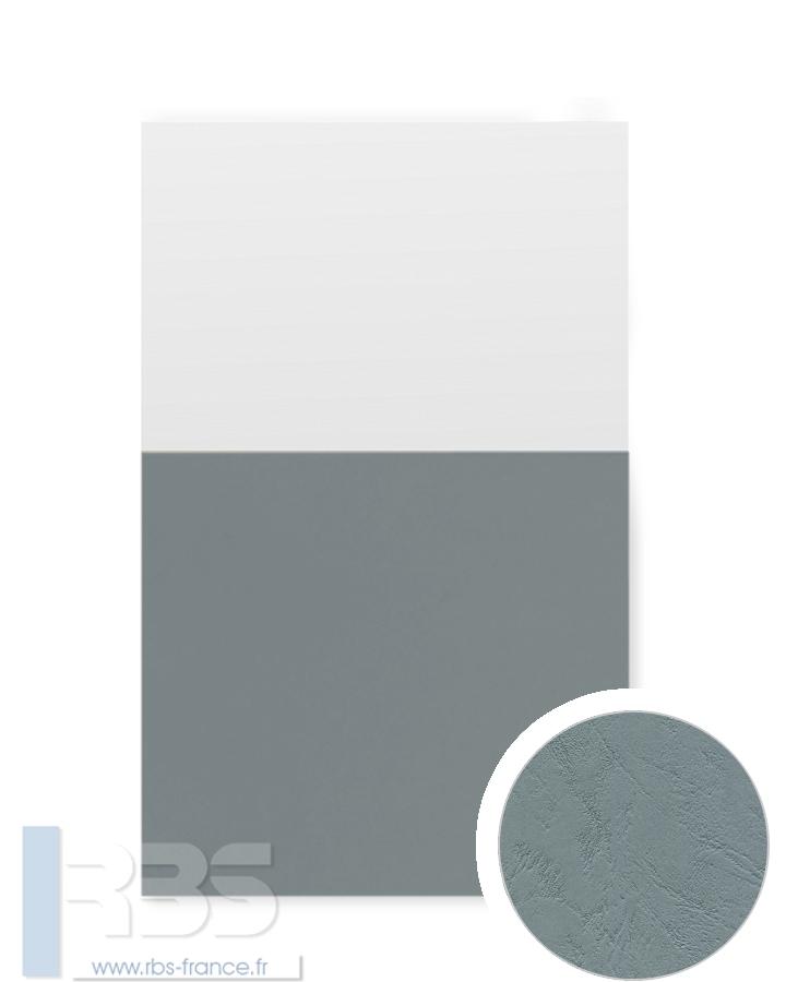 Couverture d'emboîtage Grain cuir 260g - Coloris : Gris Ardoise