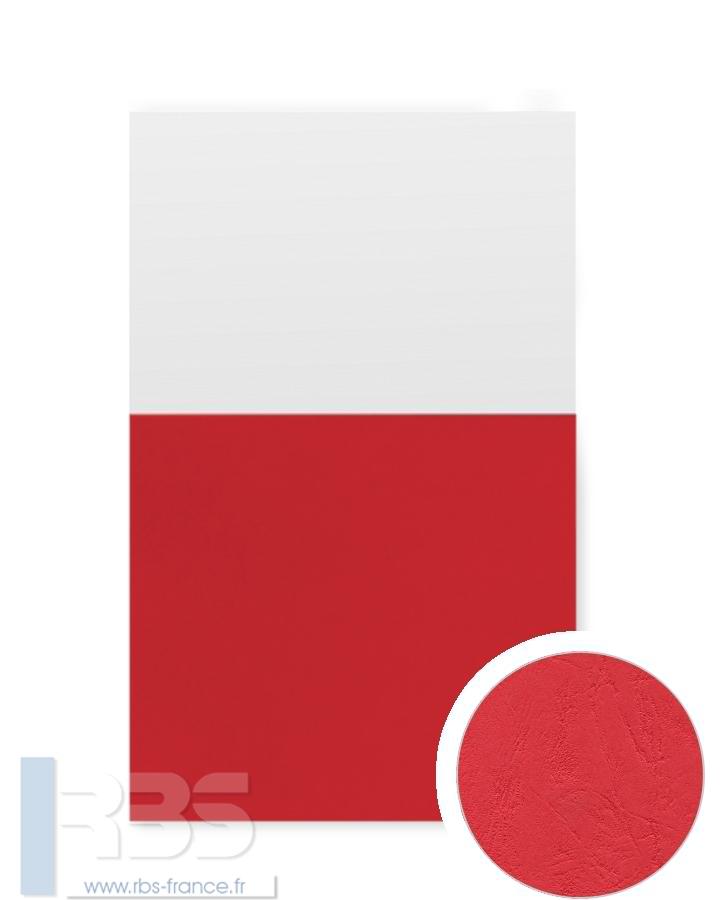 Couverture d'emboîtage Grain cuir 260g - Coloris : Rouge Turc
