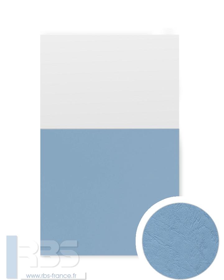 Couverture d'emboîtage Grain cuir 260g - Coloris : Bleu Horizon