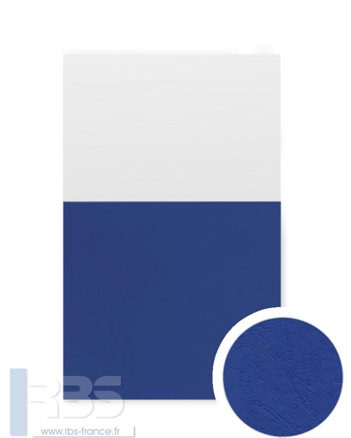 Chemises à oeillets pour agrafage Grain cuir 200g - Coloris : Bleu foncé