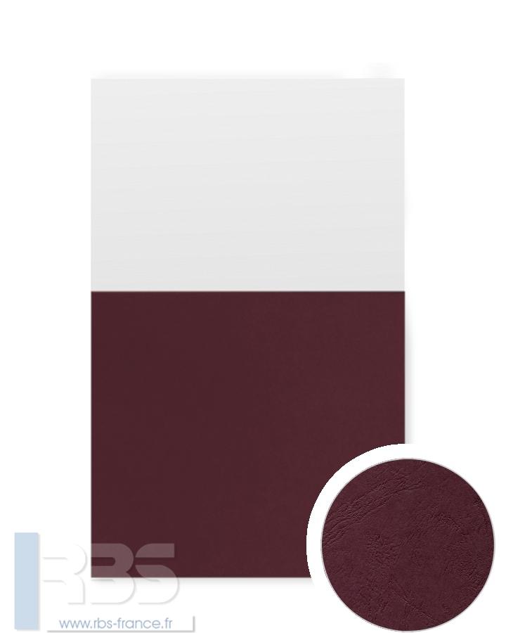 Couverture d'emboîtage Grain cuir 260g - Coloris : Grenat