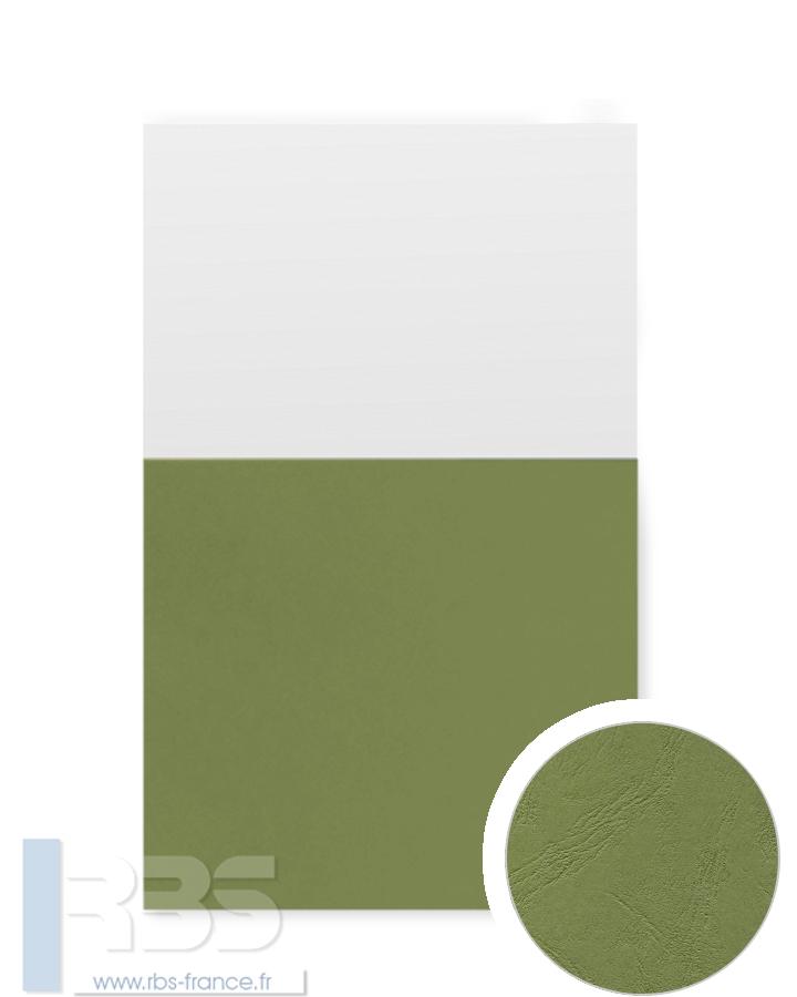 Couverture d'emboîtage Grain cuir 260g - Coloris : Vert pré