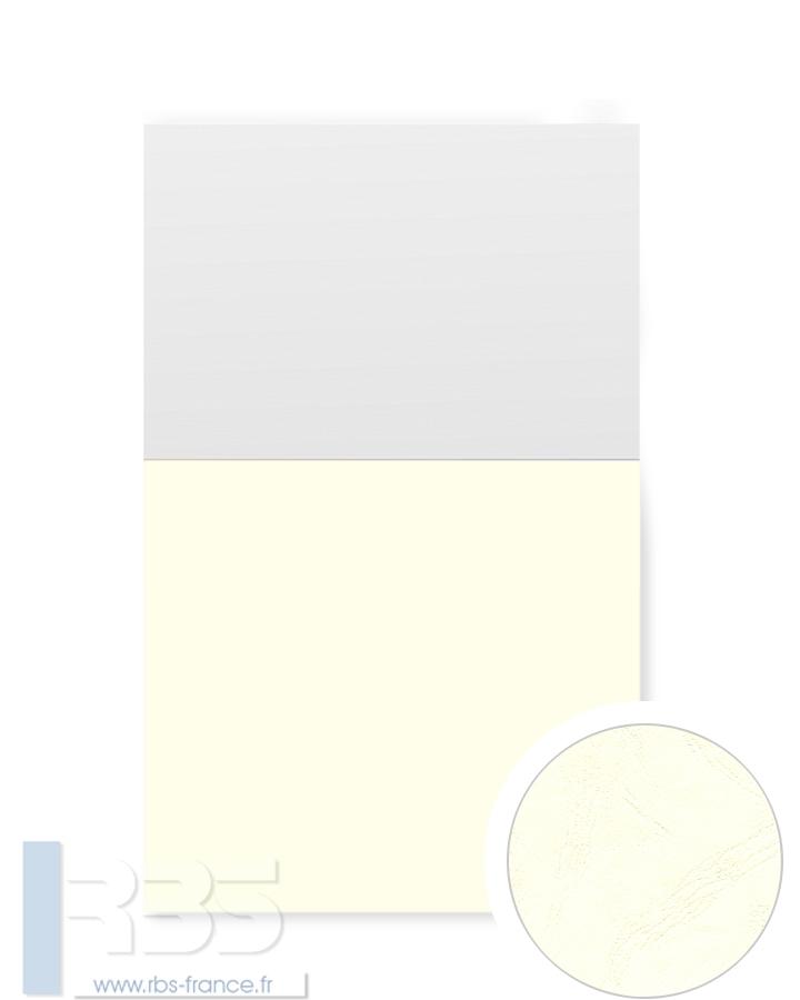 Couverture d'emboîtage Grain cuir 260g - Coloris : Crème