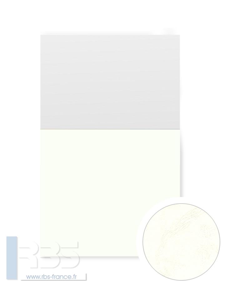 Couverture d'emboîtage Grain cuir 260g - Coloris : Ivoire