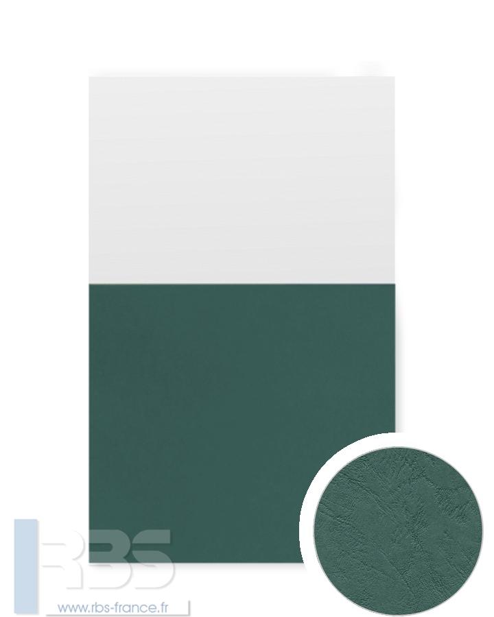Couverture d'emboîtage Grain cuir 260g - Coloris : Vert Sapin