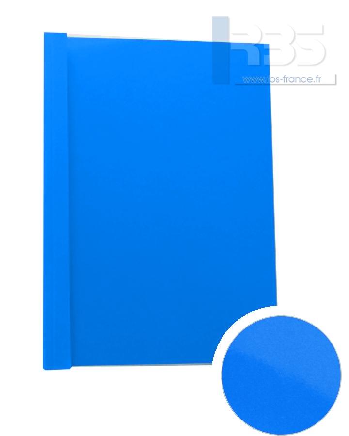 Couverture pré-encollée Chromolux couleur 250g - Coloris : Bleu