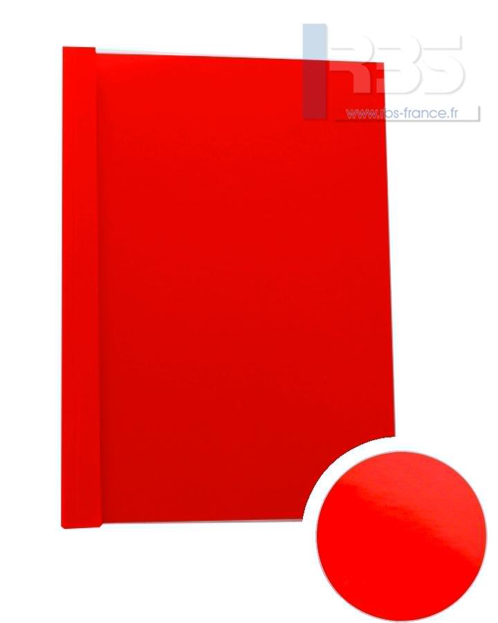 Couverture pré-encollée Chromolux couleur 250g - Coloris : Rouge
