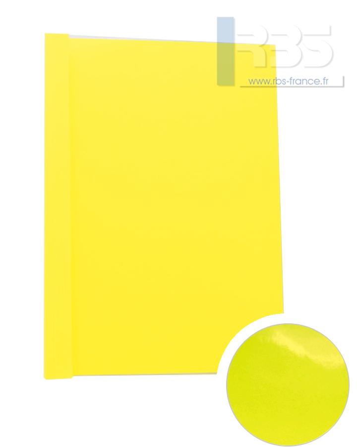 Couverture pré-encollée Chromolux couleur 250g - Coloris : Jaune