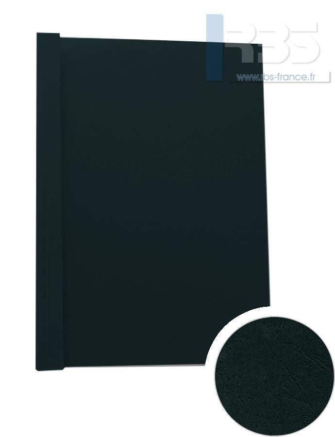 Couverture pré-encollée Grain cuir 260g - Coloris : Noir