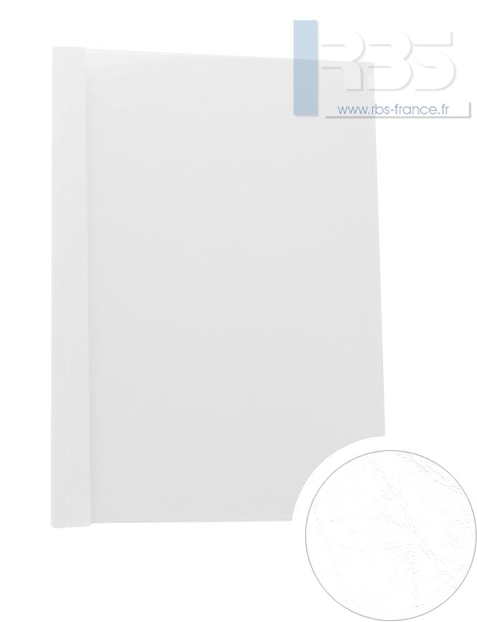 Couverture pré-encollée Grain cuir 260g - Coloris : Blanc
