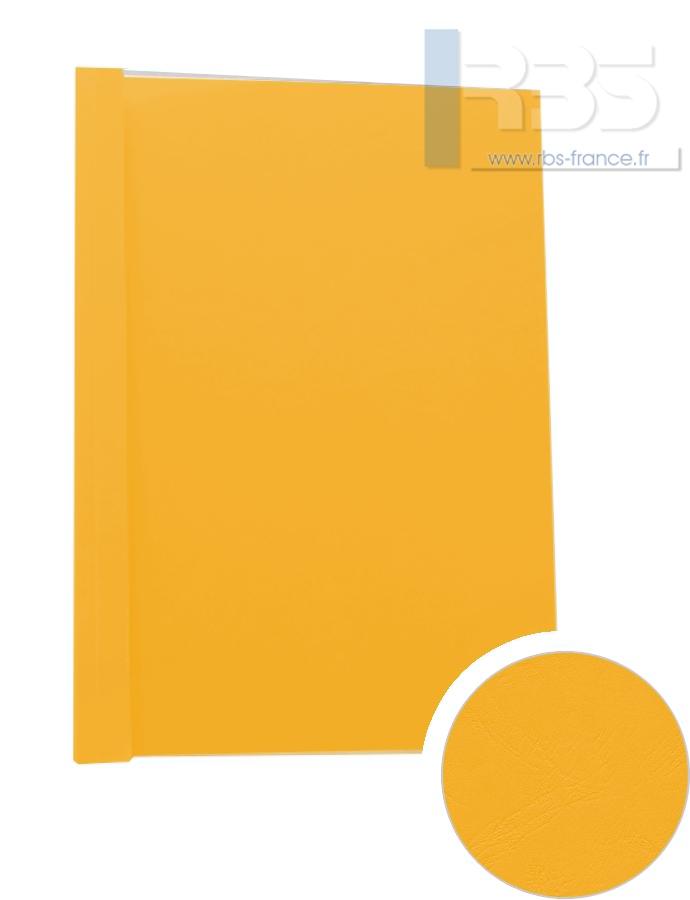 Couverture pré-encollée Grain cuir 260g - Coloris : Jaune