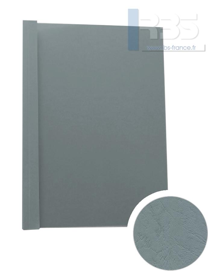 Couverture pré-encollée Grain cuir 260g - Coloris : Gris Ardoise