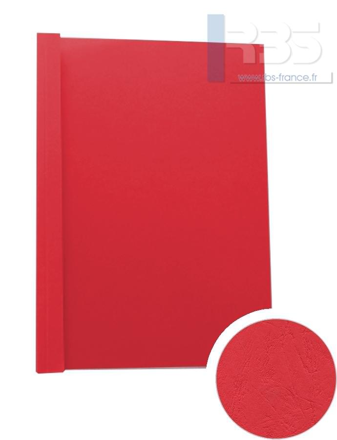 Couverture pré-encollée Grain cuir 260g - Coloris : Rouge