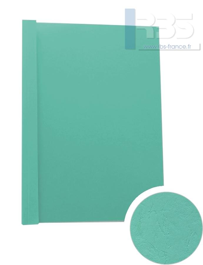Couverture pré-encollée Grain cuir 260g - Coloris : Vert d'eau