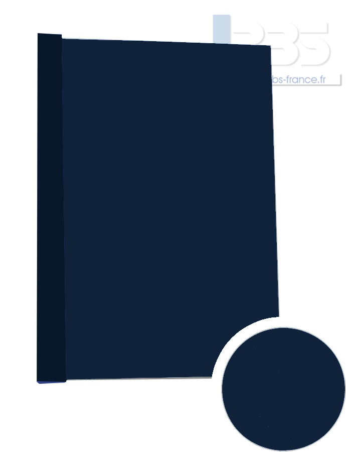 Couverture pré-encollée Grain cuir 260g - Coloris : Bleu Nuit