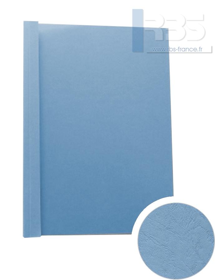 Couverture pré-encollée Grain cuir 260g - Coloris : Bleu Horizon
