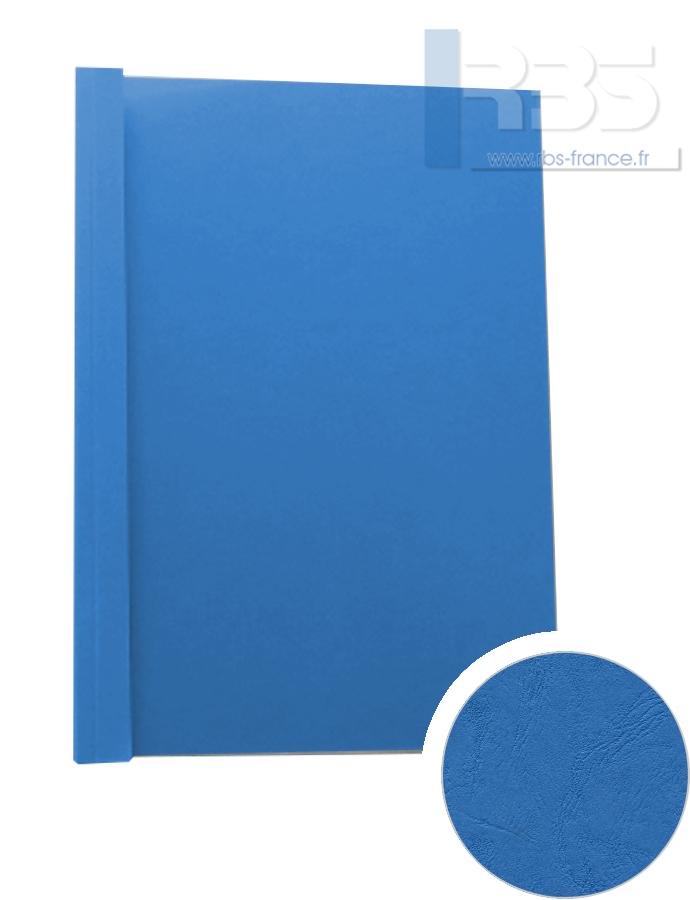 Couverture pré-encollée Grain cuir 260g - Coloris : Bleu de France