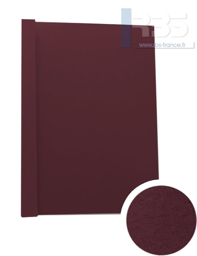 Couverture pré-encollée Grain cuir 260g - Coloris : Grenat