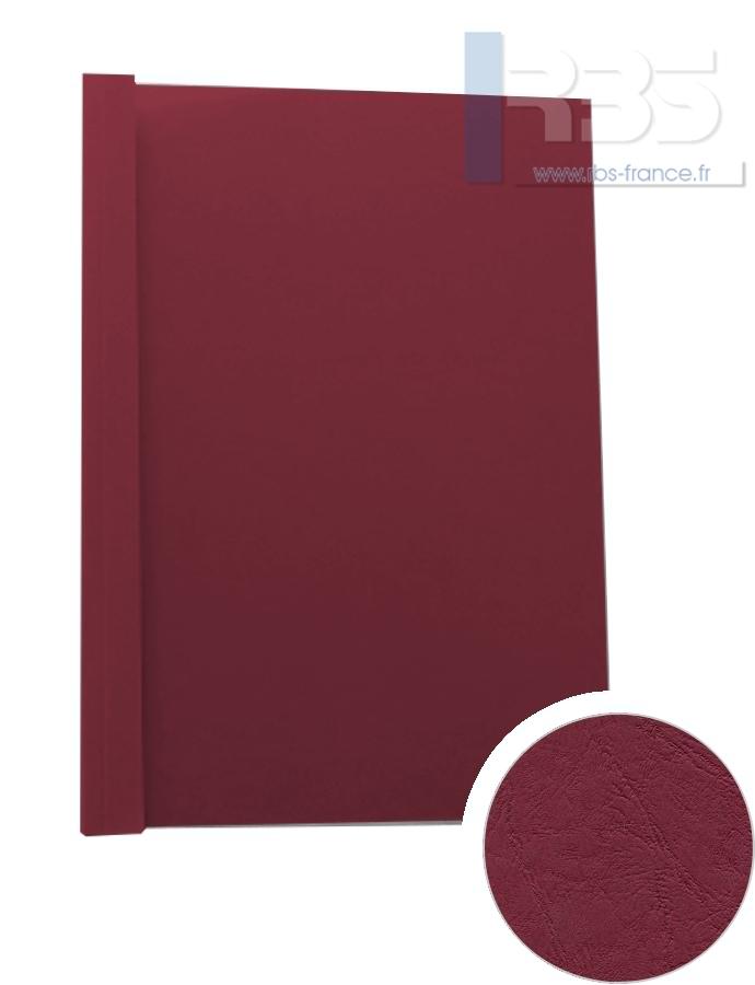 Couverture pré-encollée Grain cuir 260g - Coloris : Bordeaux