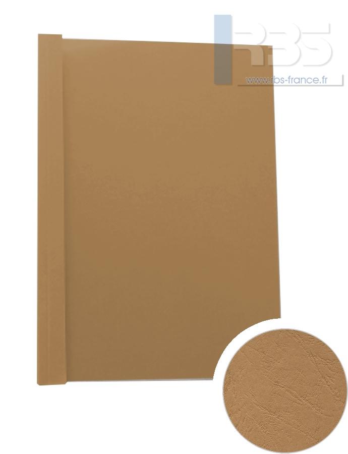 Couverture pré-encollée Grain cuir 260g - Coloris : Tabac