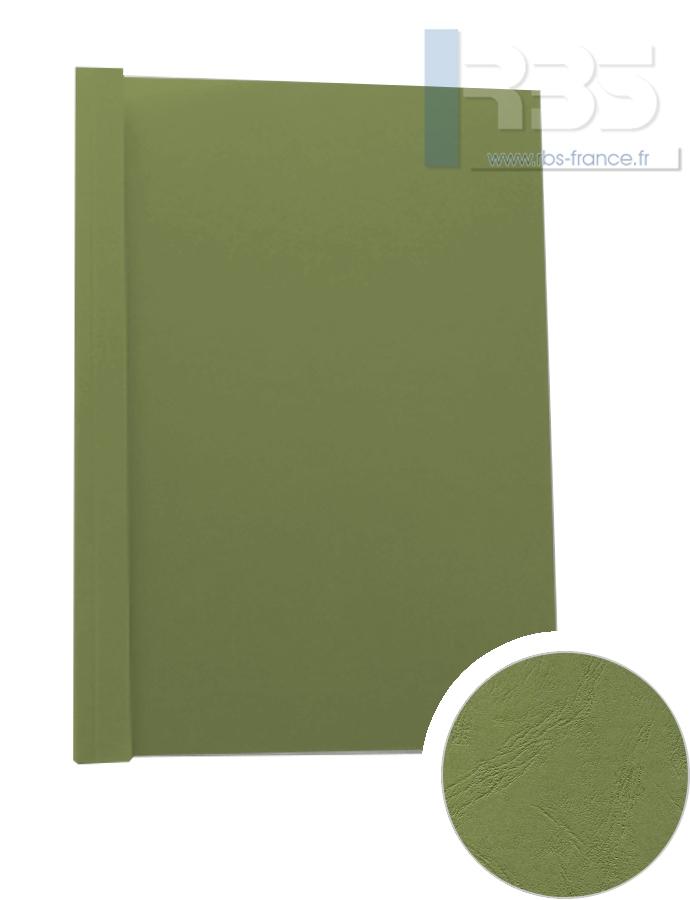 Couverture pré-encollée Grain cuir 260g - Coloris : Vert pré