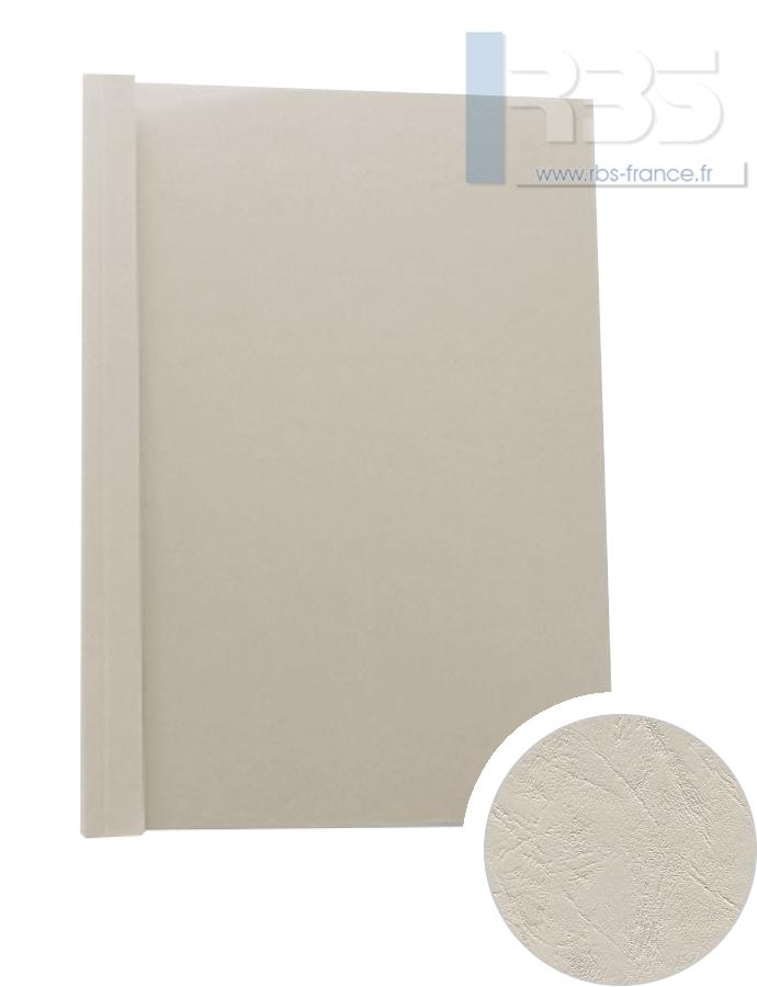 Couverture pré-encollée Grain cuir 260g - Coloris : Gris Clair