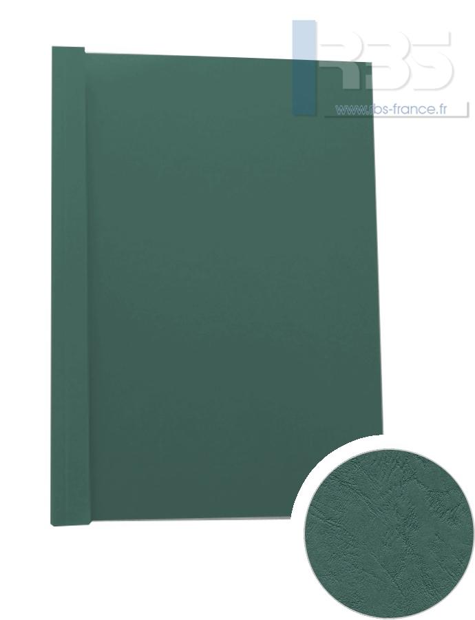 Couverture pré-encollée Grain cuir 260g - Coloris : Vert Sapin
