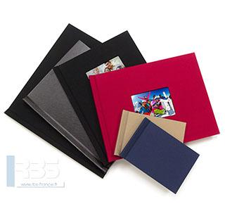Couvertures rigides clipsées pour book photos - Coloris : Noir