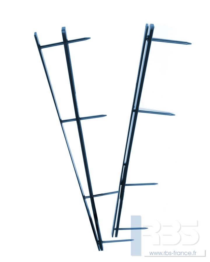 Peignes VeloBind 4 Picots - Coloris : Bleu