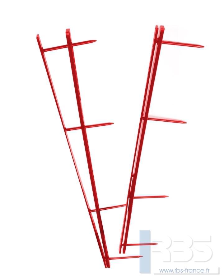 Peignes VeloBind 4 Picots - Coloris : Rouge
