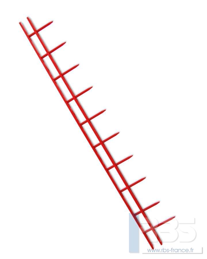 Peignes SureBind 10 picots A4 - Coloris : Rouge