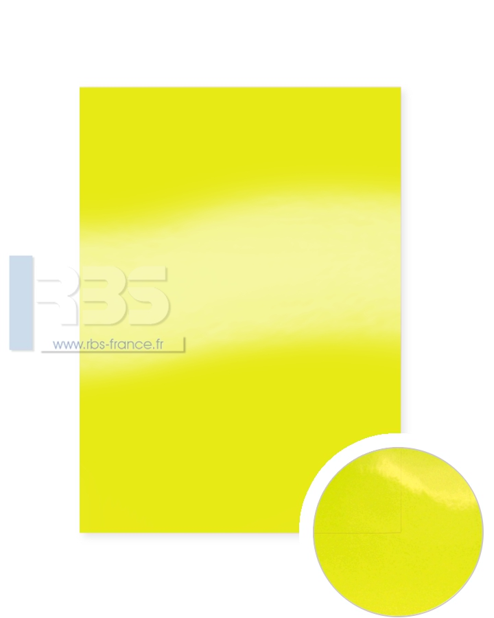 Plats de Couverture Chromolux Color 250g - Coloris : Jaune
