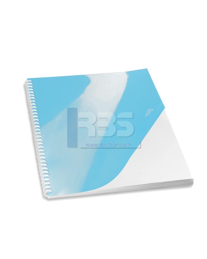 Transparent pour reliure A4 couleur - Coloris : Bleu