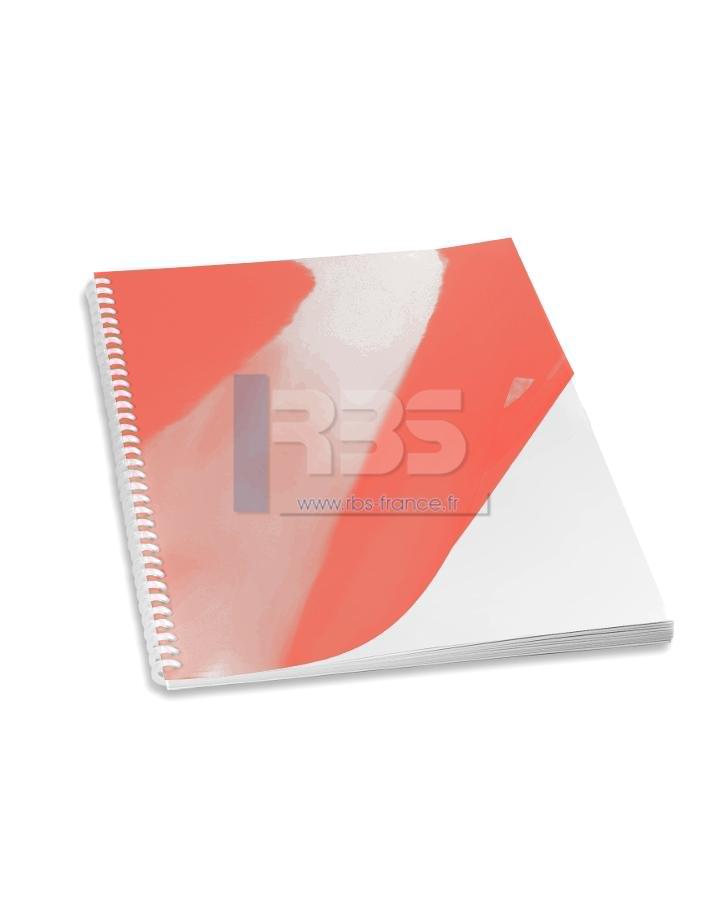 Transparent pour reliure A4 couleur - Coloris : Rouge