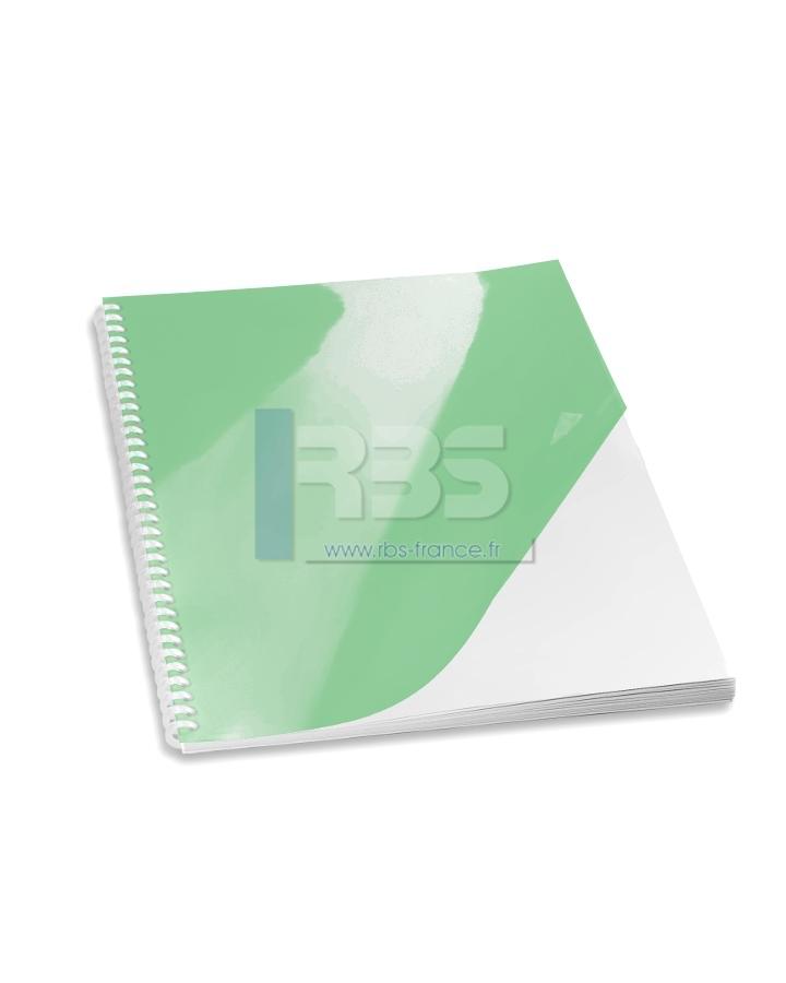 Transparent pour reliure A4 couleur - Coloris : Vert