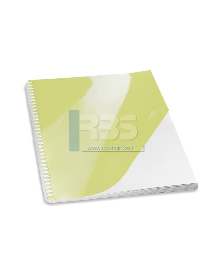 Transparent pour reliure A4 couleur - Coloris : Jaune