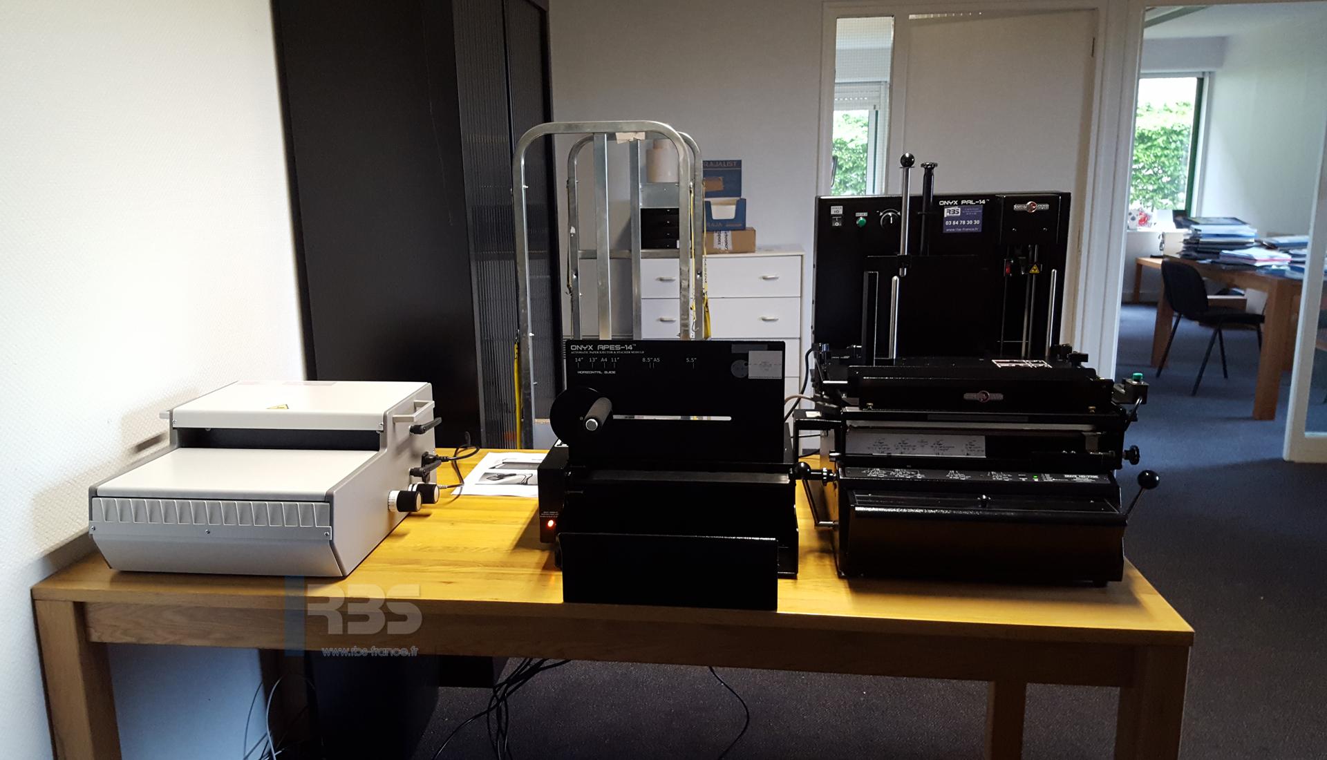 Module De Reliure Automatique 3 En 1 Pps Onyx Hd 7700 Ultima Et Wbs 3600 En Entreprise