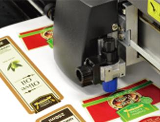 Exemple de découpeuse de stickers