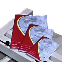 Exemple de reliure magazine grâce aux agrafeuses plieuses