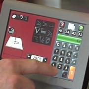 Exemple d'écran tactile sur une plieuse Docufold
