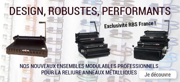 Découvrez nos nouveaux ensembles modulables relieuse-perforelieurs, une gamme design et plus robuste
