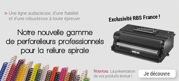 Une nouvelle présentation pour une nouvelle gamme innovante de perforelieurs professionnels pour spirale coil !