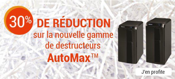 30% de réduction sur la nouvelle gamme de destructeurs AutoMax