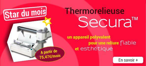 Thermorelieuse Secura : un appareil polyvalent pour une reliure fiable et esthétique