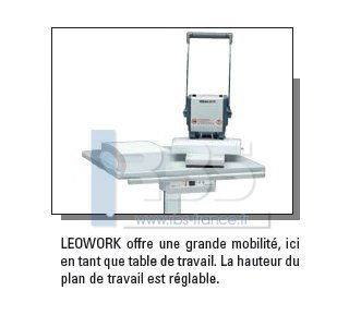 table de travail ergonomique ideal leowork avec pied hauteur r glable. Black Bedroom Furniture Sets. Home Design Ideas