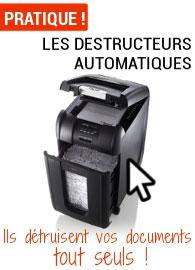 Nos destructeurs à bac de chargement automatique